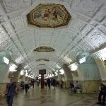 Inside the stop with mosaics