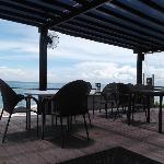 Seaside dining area