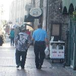 Yes that was the real Danny Devito and Jack Nicholson walking down at Riverwalk at 10am!