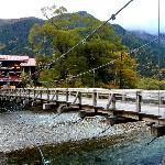 梓川左岸から河童橋