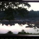 View from riverside cabin verandah