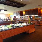 Vista buffet al Caribe