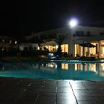 pool and canteen in the night