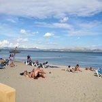 down on the beach near holiday village viva