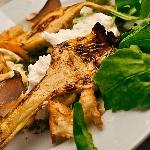 Grilled artichoke with buffalo mozzarella