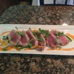 Blackened Tuna with long beans, tangerines and harissa vinaigrette