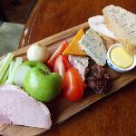 Ploughman's with home-made chutney, terrine and honey-roast ham