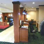 lobby area has computers to work with