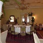 One of the dining rooms in Ammende Villa