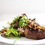 Filet Mignon with seared goose liver