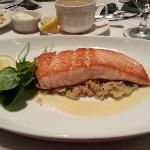 Salmon with Leek Quinoa