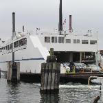 The ferry Susan Anne docking in New London.
