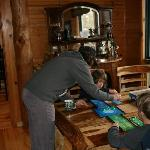 Playing games in the lodge