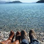 En la playa del Hotel, Lago Nahuel Huapi