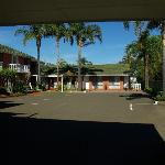View of rooms from under car port area