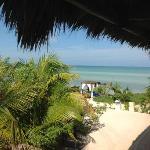 vistas de la playa privada del hotel