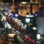 View from our room on The Strip at night. (telelens)