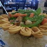 Seafood & Vegetable Bowl (made w/ Lo Mein Noodles)