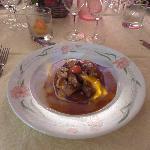 tarte tatin au foie gras, flambée au calvados