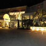 Entrance to hotel at night