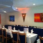 Traditional Indian cuisine in a modern vibrant setting