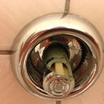The toilet flush, urgently needs a repair