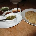 Salsa sampler - one was made with coffee which was my favorite!