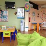 inside the kids play area