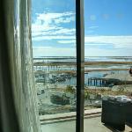 vue de la chambre coté marina