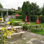 The Hostelrie at Goodrich, garden area