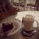 Mocha and chocolate cake