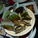 Green mussels cooked in coconut soup