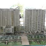 Model of hotel and serviced apartments- dusty.