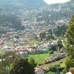 The Ooty city valley below