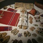 North American Indian artifact display