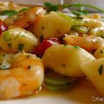 Gnocchi with shrimp and zucchini - amazing!