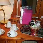 Refreshments in room