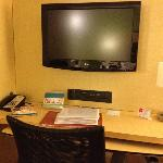 Desk/TV area in my suite
