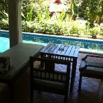our pool access villa