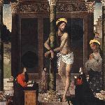 Alejo Fernández - Cristo flaquelado con San Pedro y donantes