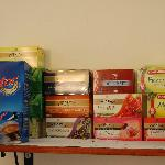 Selection of Tea. They also have a good selection of spread