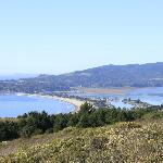 View from the road of Stinson Beach
