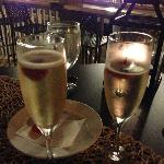 Champagne to celebrate our engagement!