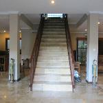 trap midden in de 4 pers. villa