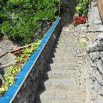 Many stone steps... You will be in better shape!