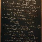 menu du Marché