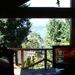 Vista desde el living de la cabaña