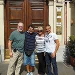 with David and Livio in front of the B&B