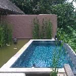 The pool in the villa