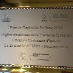 Vincitore per la provincia di Pescara Marchio Ospitalita' Italiana 2008